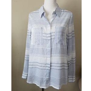 WHBM | Soft Button Up Shirt Striped